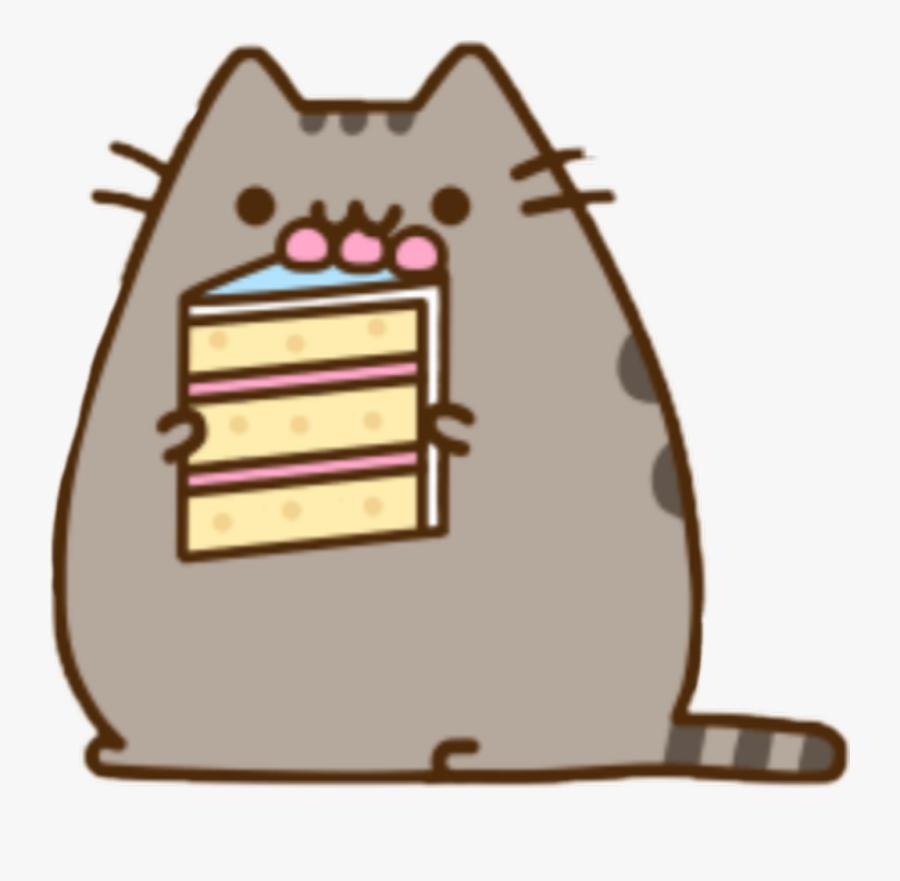 Pusheen Cute Cat Cake - Happy Birthday Korean Gif, Transparent Clipart