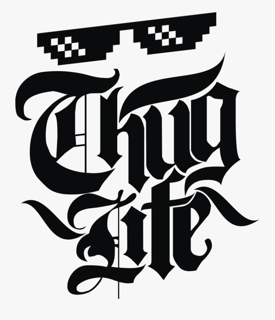 Emblem Of Thug Life, Transparent Clipart