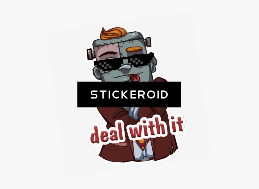 Transparent Thug Life Png - Deal With It Sticker Telegram, Transparent Clipart
