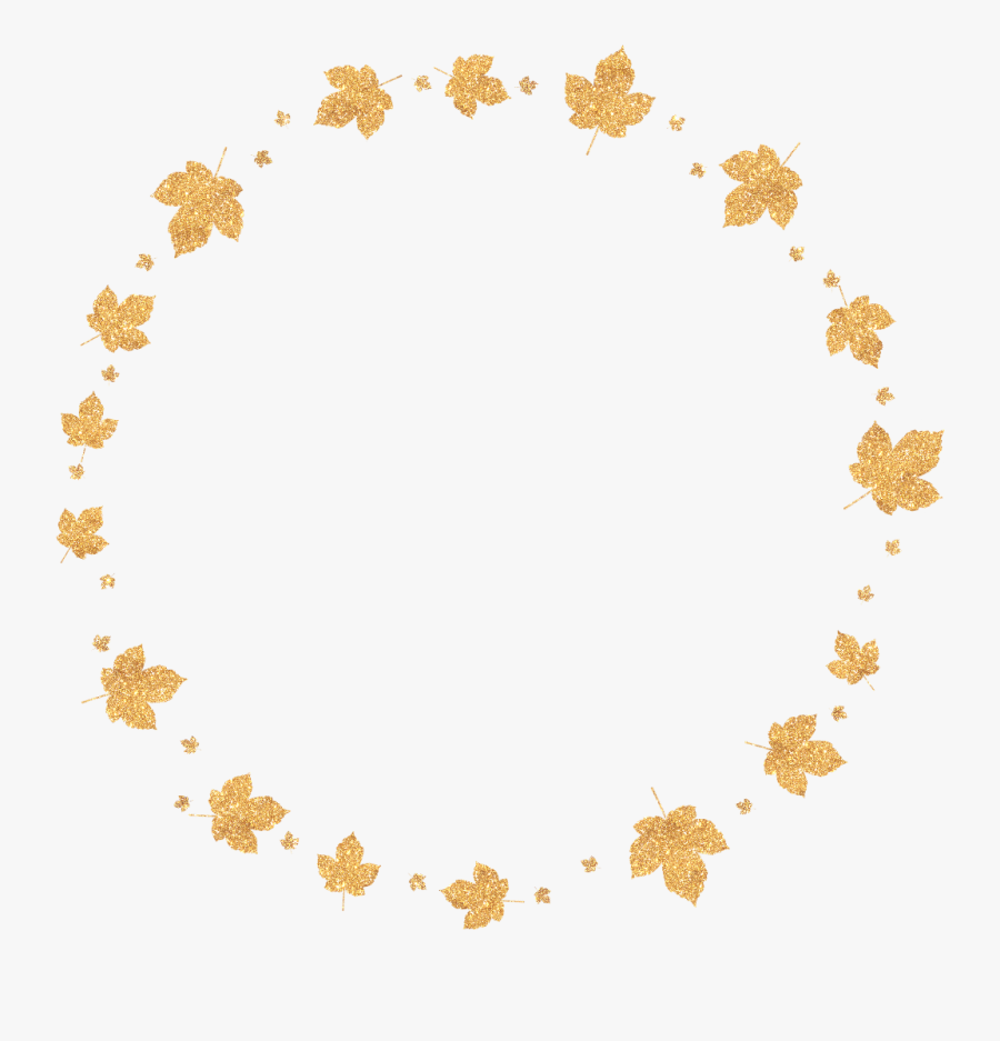 #freetoedit #ftestickers #leaves #autumn #fall #decoration - Star In Circle Shape, Transparent Clipart
