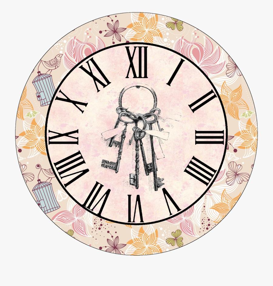 Transparent Clock Face Clipart - Vintage Clock Clipart Hd, Transparent Clipart