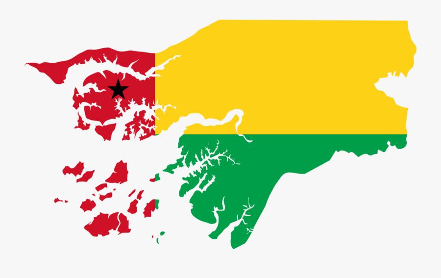 Flower,art,area - Guinea Bissau Flag Map, Transparent Clipart