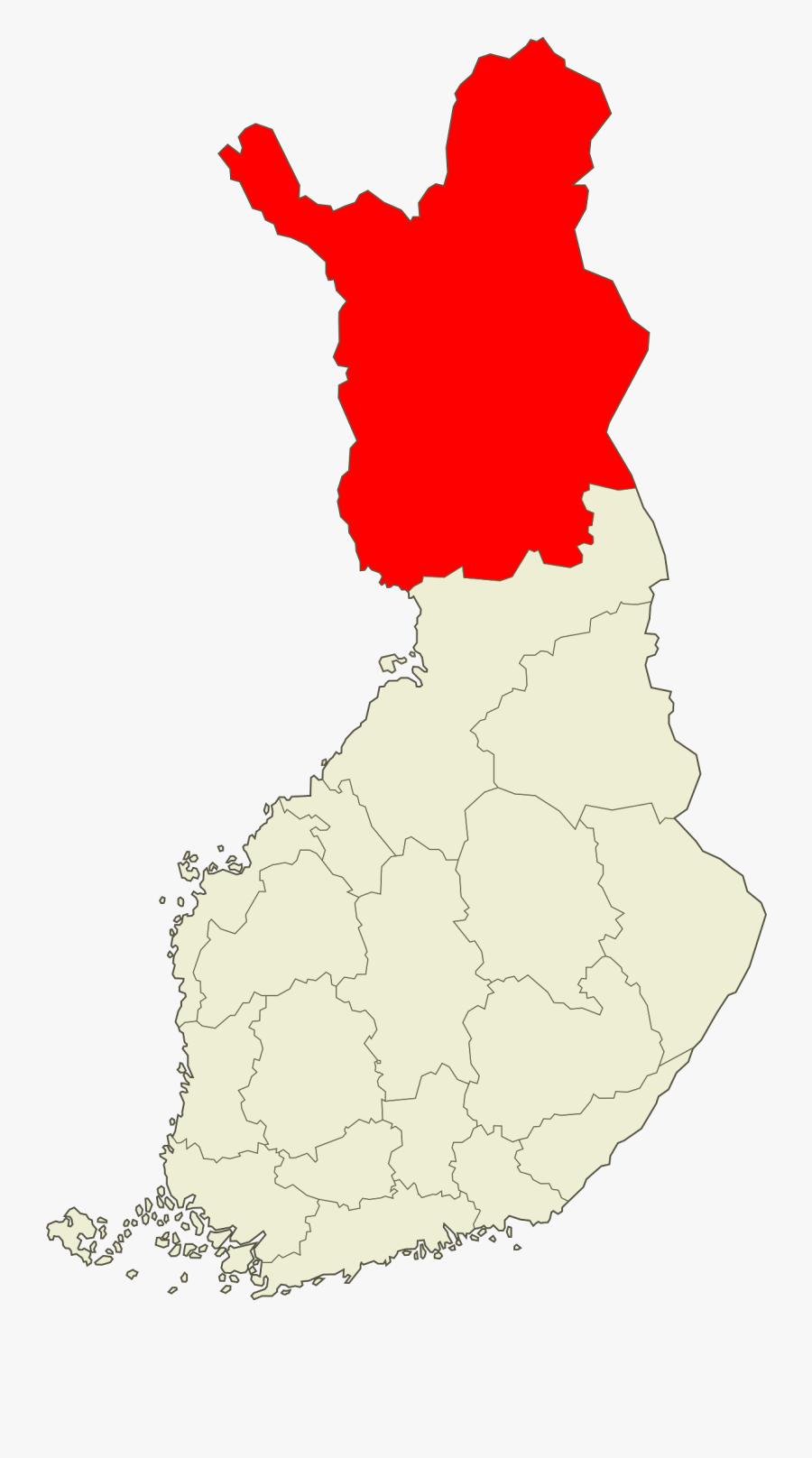 Clip Art Lapland Wikipedia - Finland Population Map, Transparent Clipart
