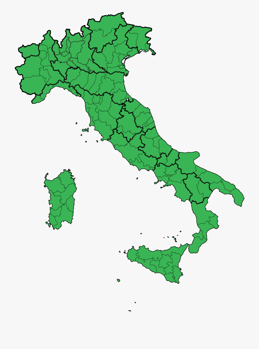 Shape Of Italy Map, Transparent Clipart