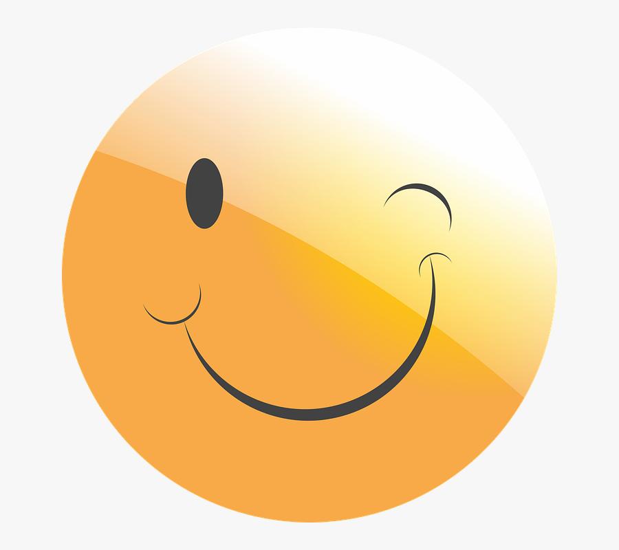 Emoticon, Smiley, Face, Wink, Wink At, Trick, Joke - Mood Off Dp Sticker, Transparent Clipart