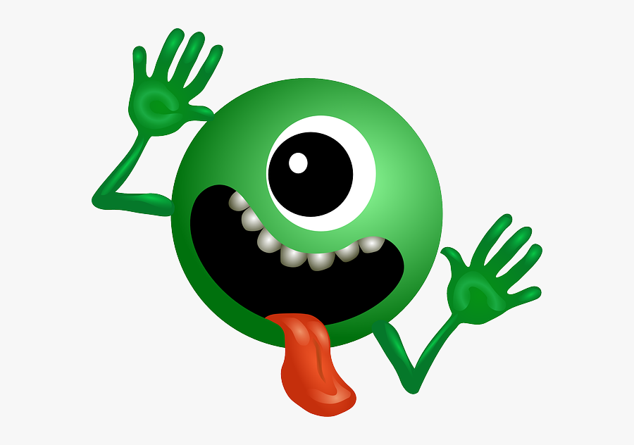 Alien, Green, Smiley, Monster, Cartoon, Character, - Galaxy Don T Panic, Transparent Clipart