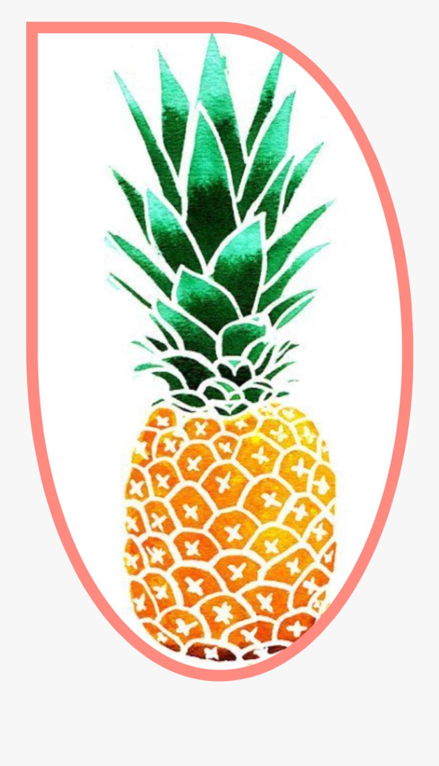 #fruit #pineapple #outline #freetoedit - Cartoon Pineapple, Transparent Clipart