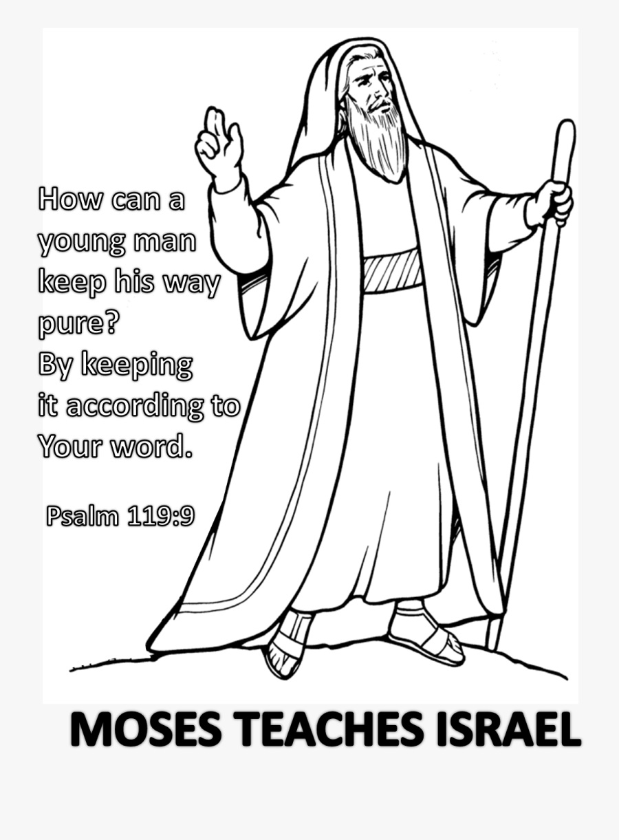 Moses Coloring Pictures Printable, Transparent Clipart