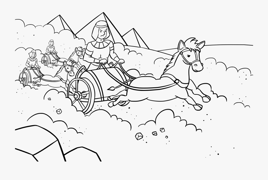 """Pharaoh""""s Army Coloring Pages Chariot - Coloring Page Of Pharaoh In Chariots, Transparent Clipart"""