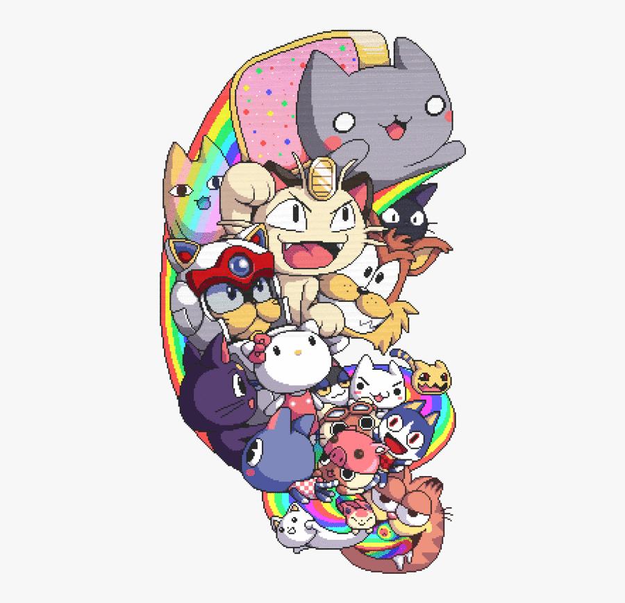 #rainbow #nyan #nyancat #cat #cats #kitten #kittens - Anime Cats, Transparent Clipart