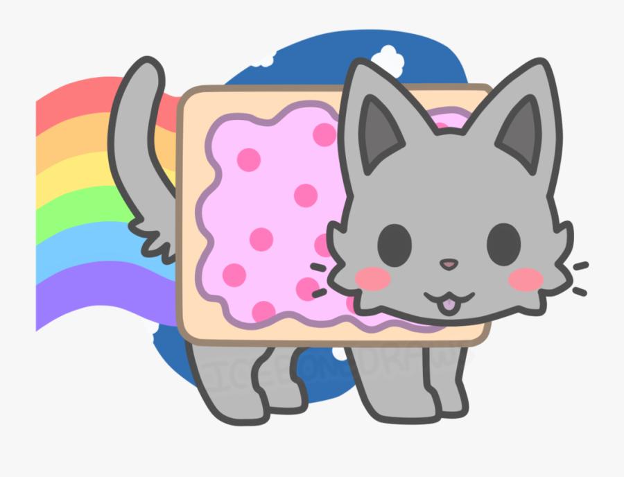 Transparent Kawaii Cat Clipart - Imagens Kawaii Nyan Cat, Transparent Clipart