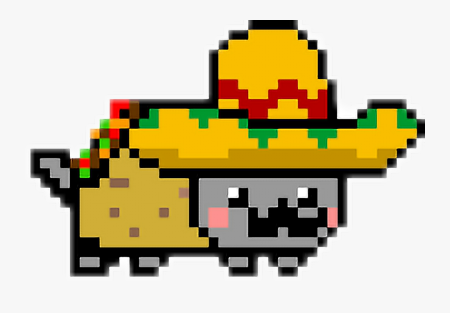 Mi Primer Sticker De Nyan Cat Taco - Nyan Cat Tacos Cat, Transparent Clipart