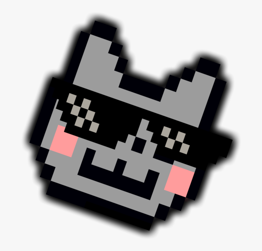 Deal With It Nyan Cat Glasses - Memes Thug Life Png, Transparent Clipart