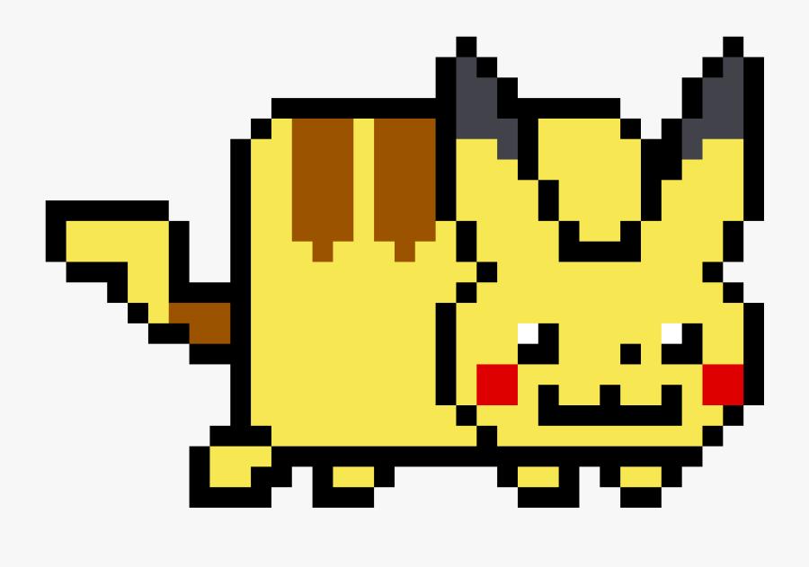 Nyan Cat Pikachu Clipart , Png Download - Pikachu Perler Bead Patterns Pokemon, Transparent Clipart