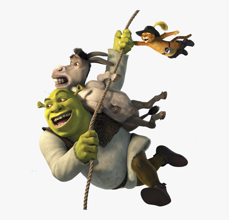 Shrek Clipart White Background Shrek And Donkey And Puss Free Transparent Clipart Clipartkey