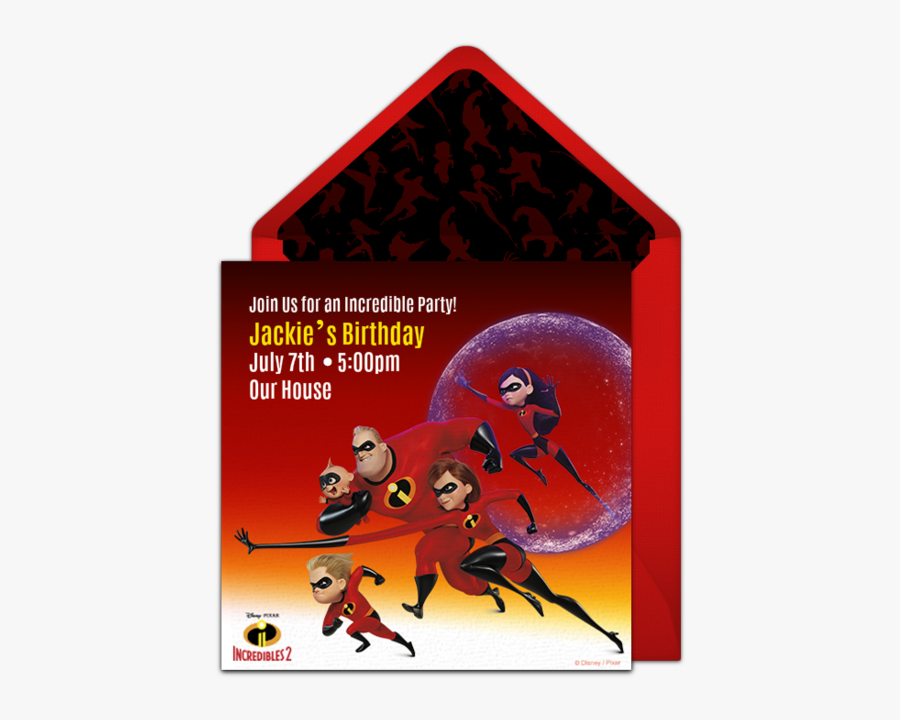 Incredibles 2 Themed Birthday Party, Transparent Clipart