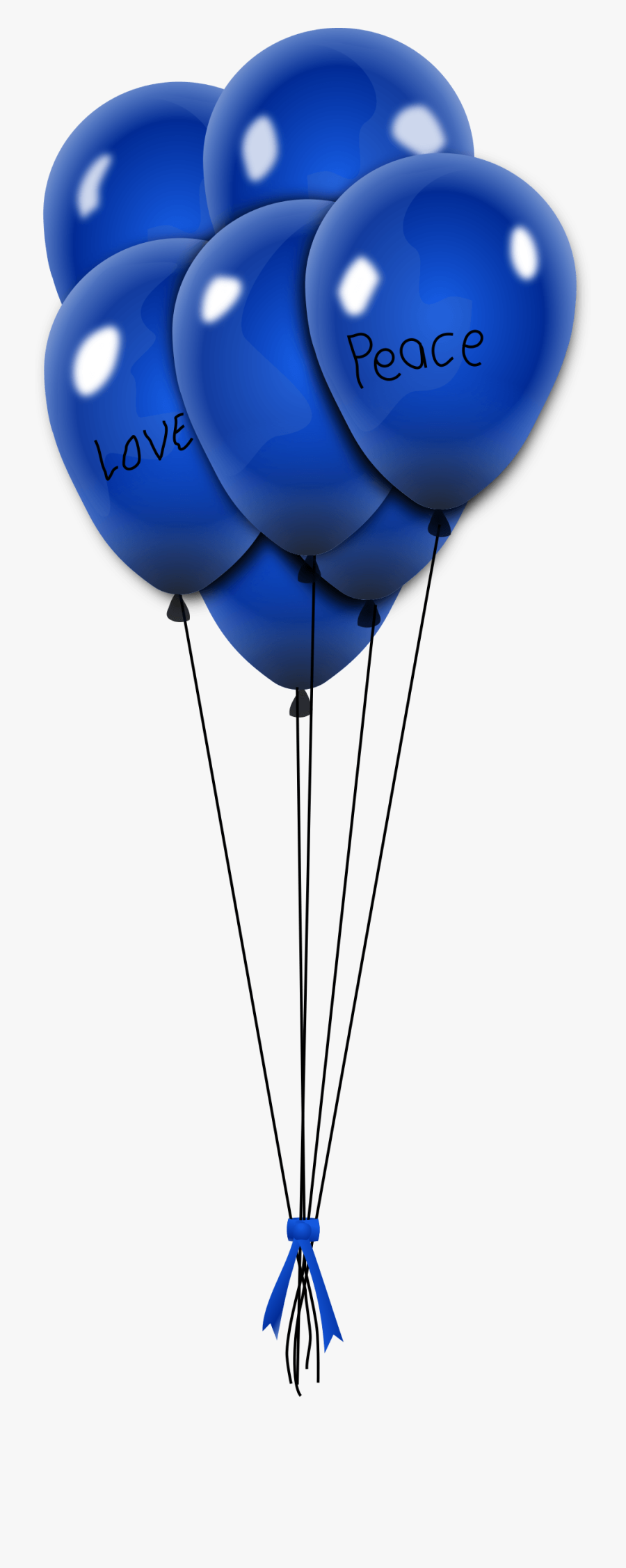 Clipart - Blue Party Balloons Png, Transparent Clipart