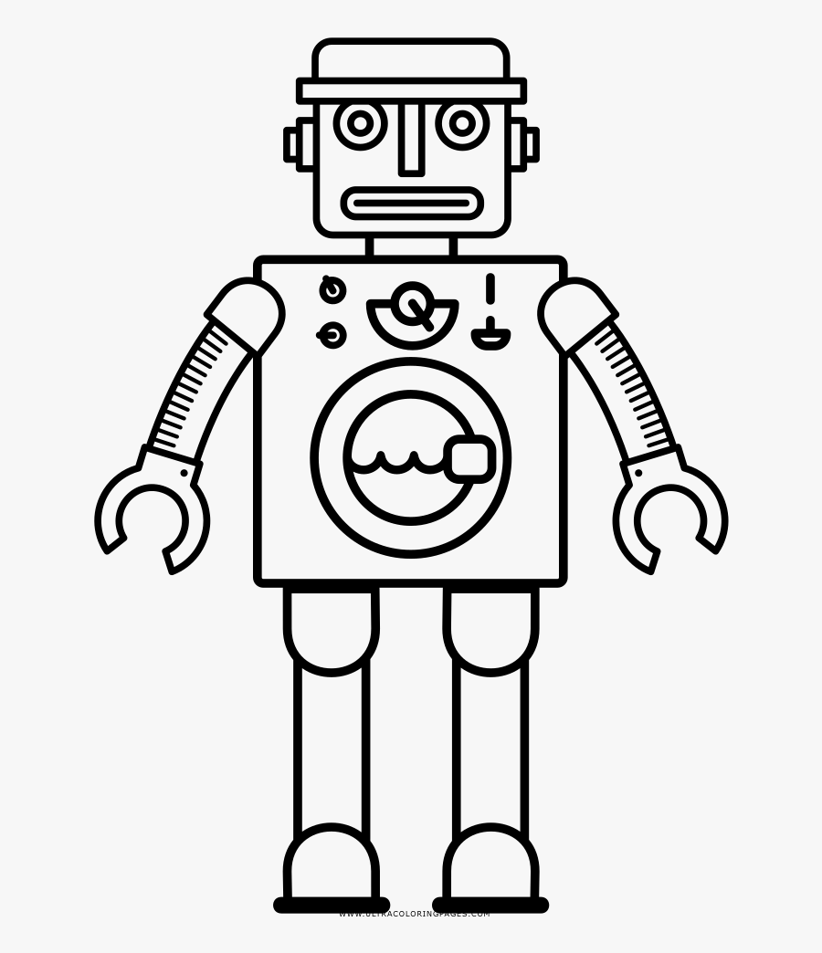 Robot Coloring Page Robot Coloring Pages Pdf Free Transparent Clipart Clipartkey