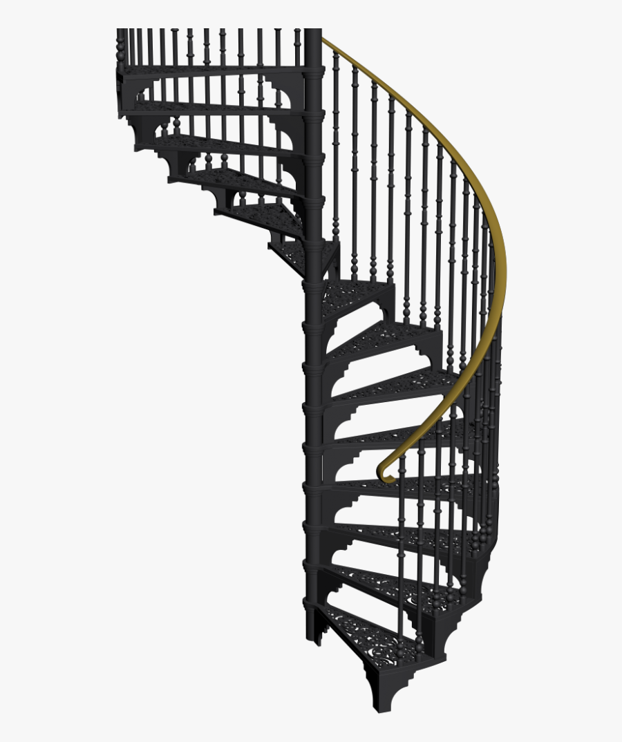 Design And Decorate Your Black Spiral Staircase Free Transparent Clipart Clipartkey