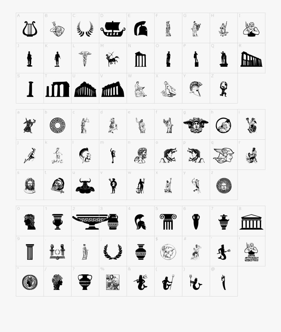 Greek Mythology Font - Greek Mythology Font Style, Transparent Clipart