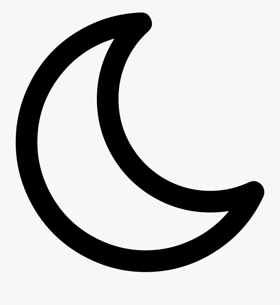 Moon Icon Png - Outline Image Of Moon, Transparent Clipart
