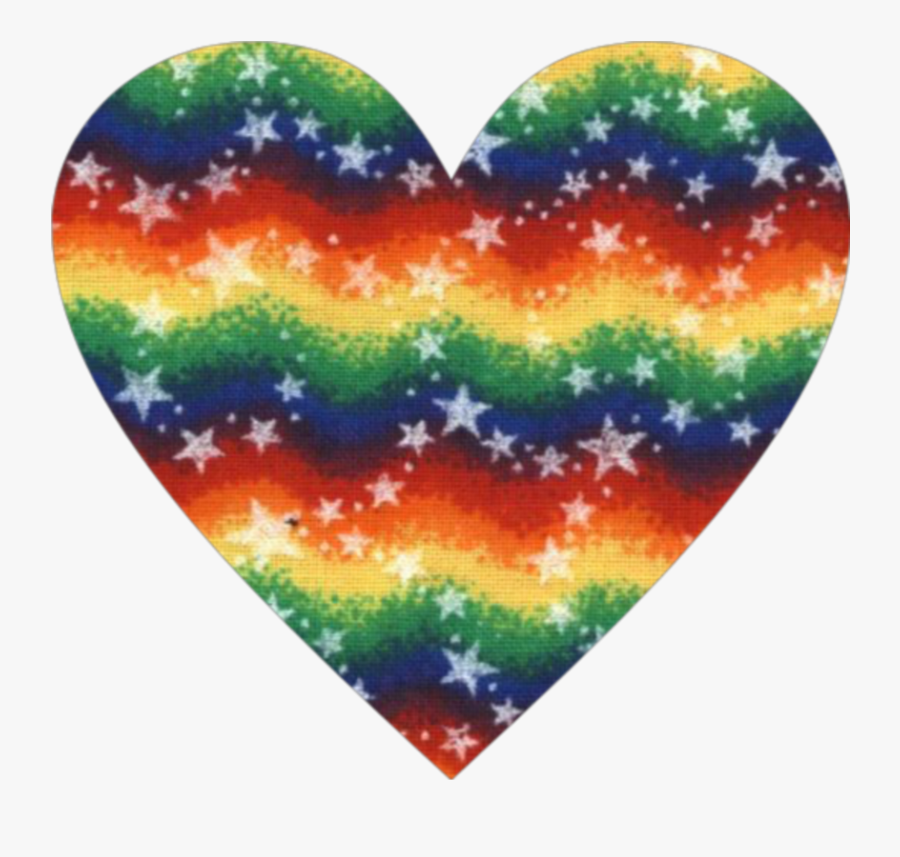 #heart #rainbow #vintage #stars #retro #love #hearts - Primary Color Star Background, Transparent Clipart