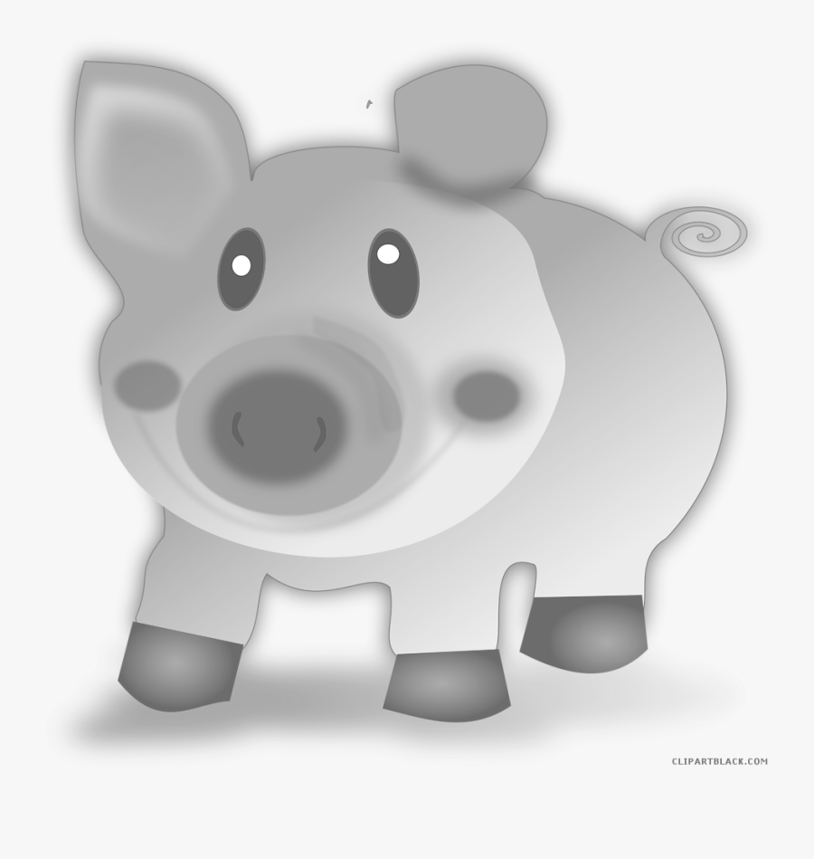 Pig Clipartblack Com Animal Free Black White Ⓒ - Поздравление С Новым Годом Свиньи, Transparent Clipart