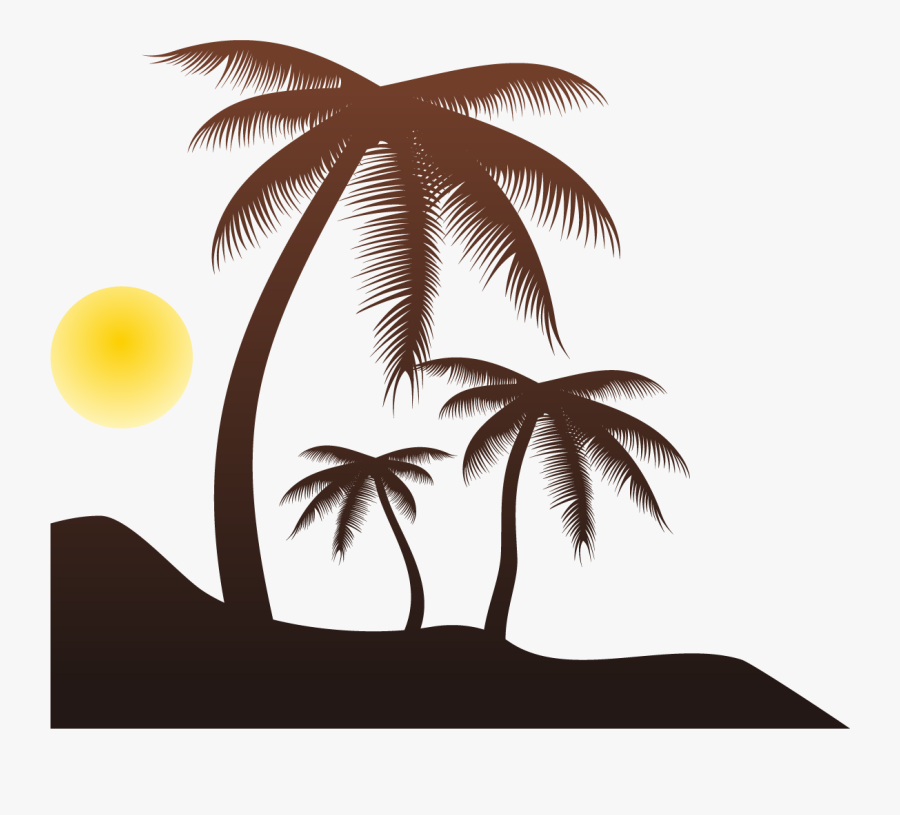 Arecaceae Silhouette Tree Clip Art - Palm Tree Silhouette Transparent, Transparent Clipart