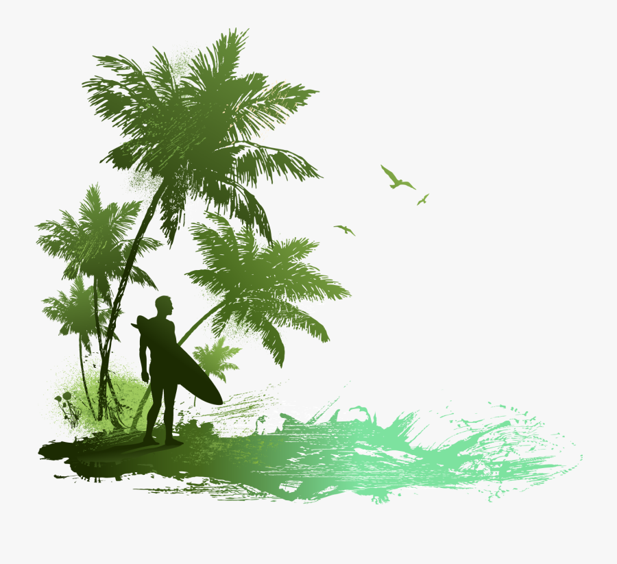 Drawing Beach Seaside - Drawing On Water Sports, Transparent Clipart