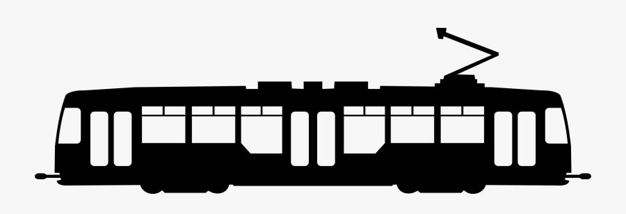 Transparent Train Silhouette - Tram Silhouette, Transparent Clipart