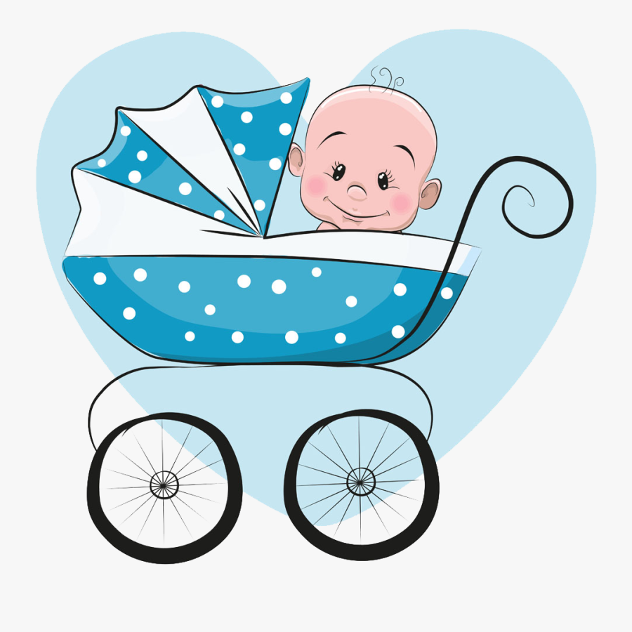 Cartoon Baby Carriage - Baby Stroller Clipart Png, Transparent Clipart