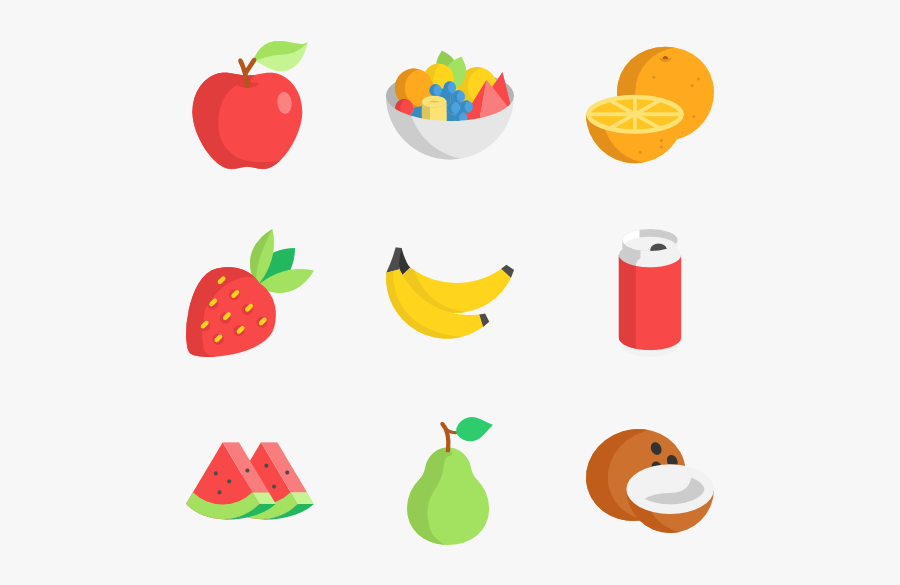 Fruits Icon Packs - Vector Fruits And Vegetables Png, Transparent Clipart