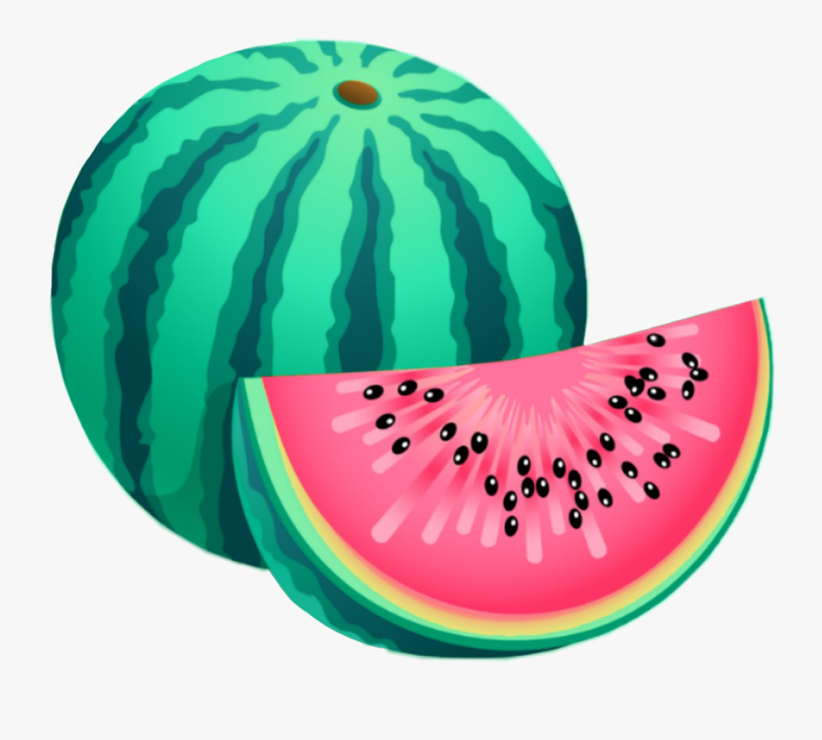 #interesting #art #watermelon #fruit #food #red #green - Watermelon Clipart, Transparent Clipart