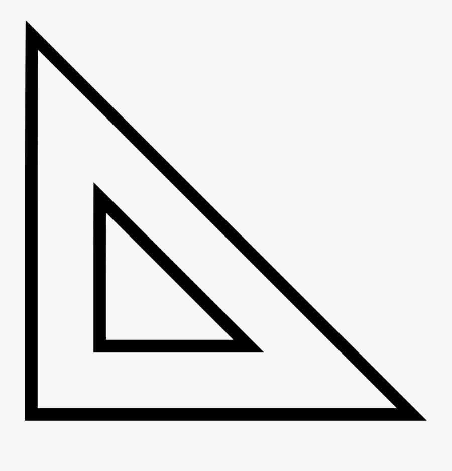 Angle Vector Ruler - Line Art, Transparent Clipart