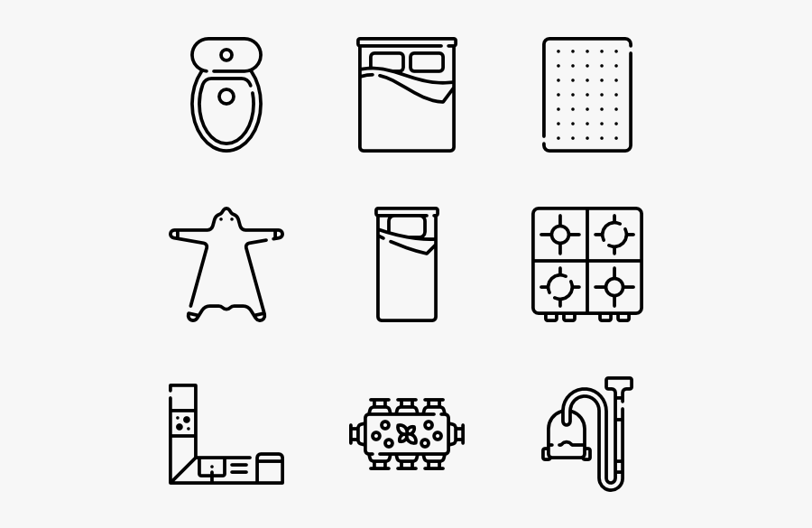 Bed Vector Top View - Resume Icons Png, Transparent Clipart