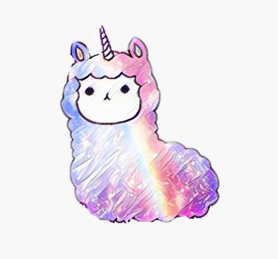 255 2554126 llamacorn rainbows galaxy llama unicorn fluffy cute kawaii