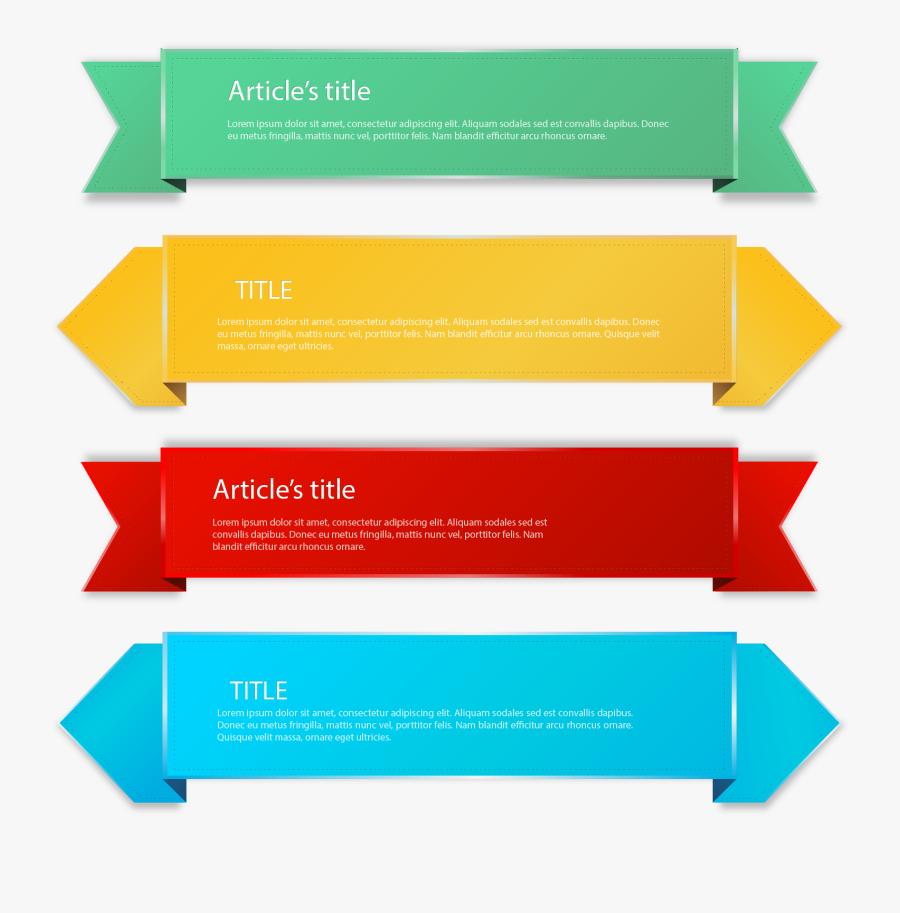 Banners Vector Label - Clipart Color Label, Transparent Clipart