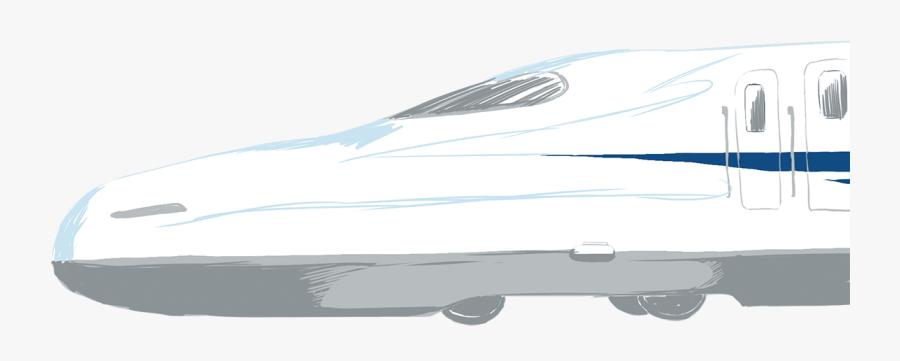 Design Shinkansen Bullet Train, Transparent Clipart