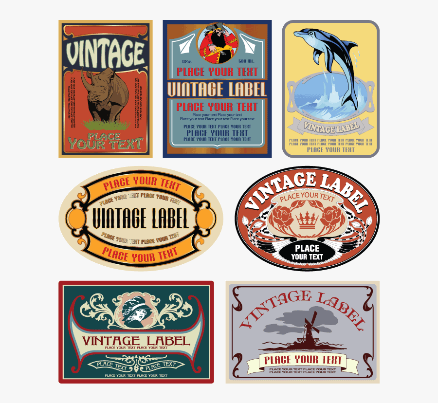 Transparent Vintage Label Png - Vintage Label, Transparent Clipart