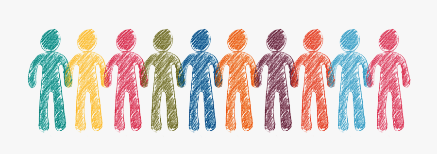 Icon Of 10 People Standing In A Row - Community Outreach, Transparent Clipart
