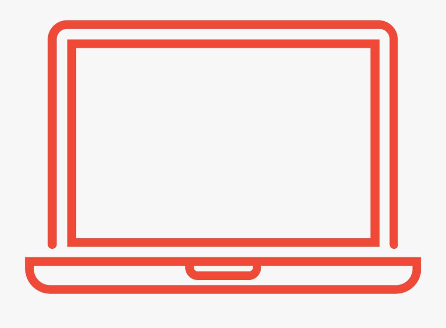 Noun Laptop 1651702 Ef4937 - Laptop Icon White Png, Transparent Clipart