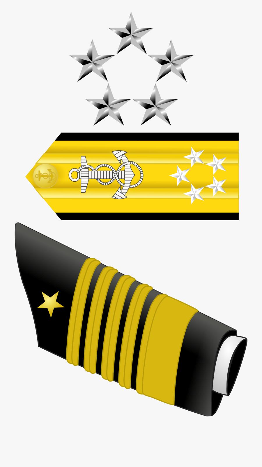 Us Navy Admiral Rank Insignia - Rear Admiral Us Navy Rank, Transparent Clipart
