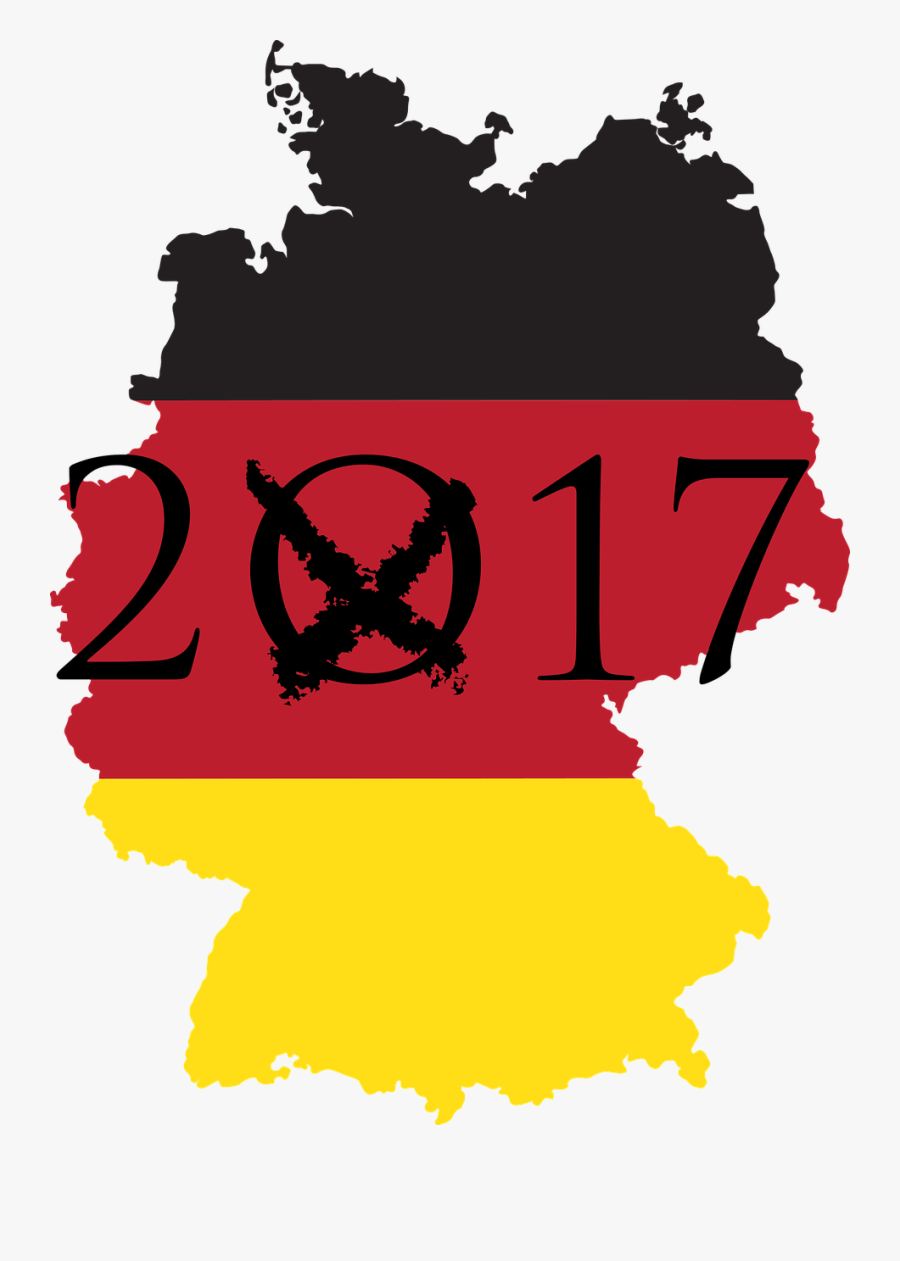 Bundestagswahl 2017 Demokratie Free Picture - Germany Flag Map Icons Png, Transparent Clipart