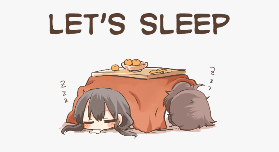 "Let""s Sleep 2 2 2 Cartoon Mammal Vertebrate Text - Anime Girl Go To Sleep, Transparent Clipart"
