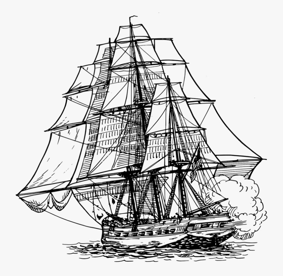 Ship Drawing Png, Transparent Clipart