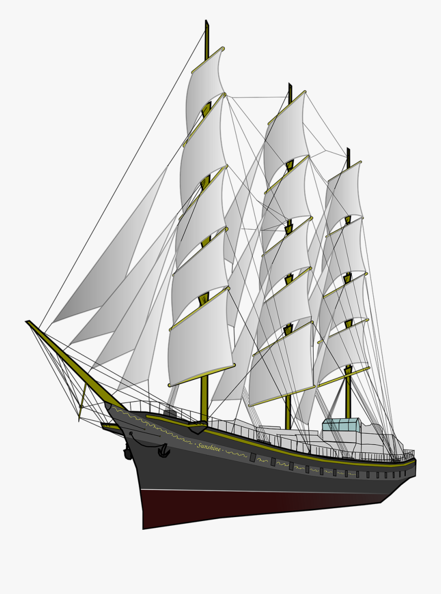 Sailing Ship Transparent Png, Transparent Clipart
