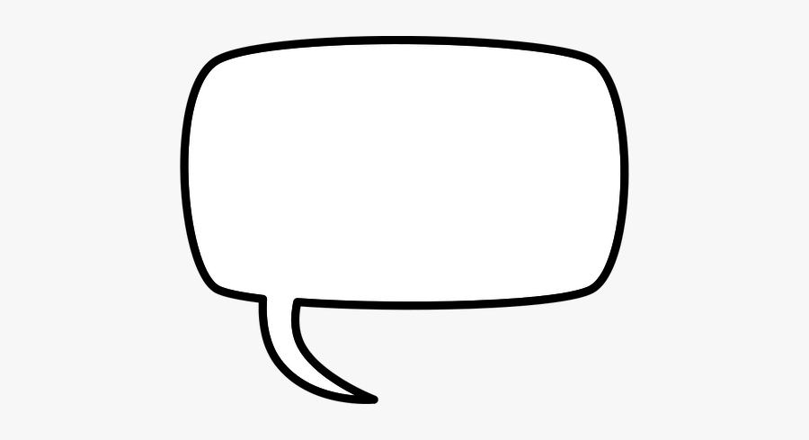 Rectangular Comic Speech Bubble Vector Drawing - Clip Art Comic Clouds, Transparent Clipart