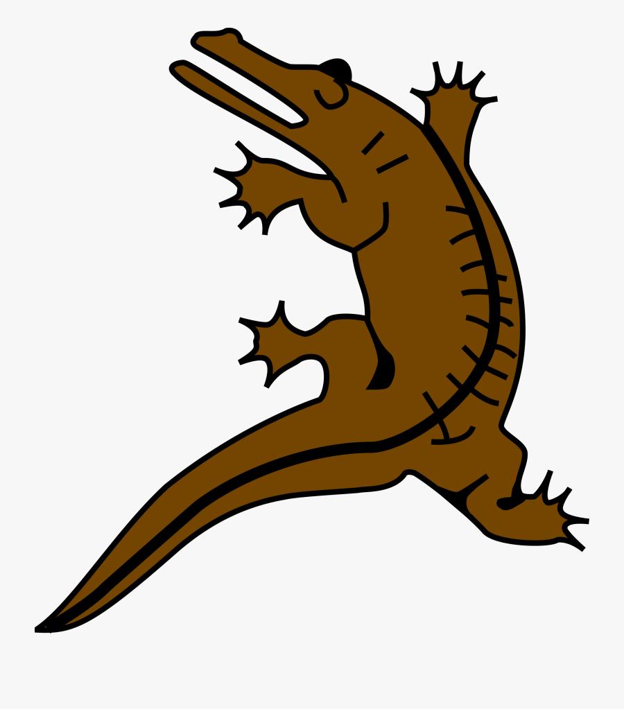 Crocodile 5 Clip Arts - Crocodile Coat Of Arms, Transparent Clipart