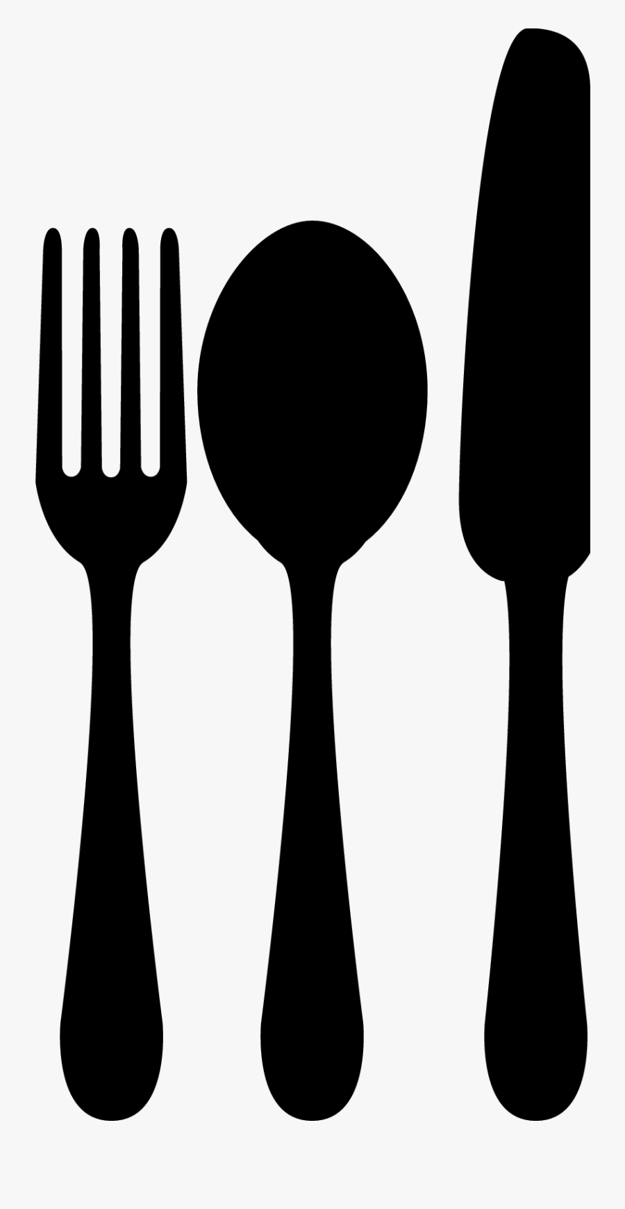Spoon Fork Knife - Fork Spoon Knife Clipart, Transparent Clipart