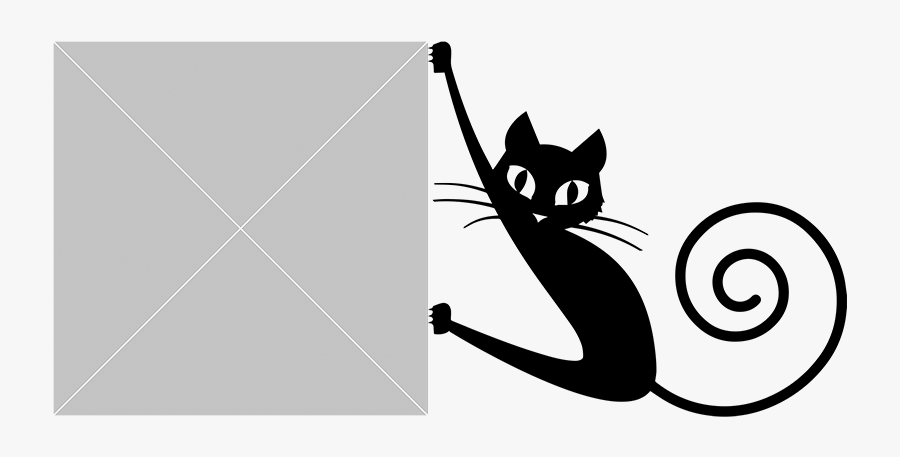 Dibujo Gato Negro Png, Transparent Clipart